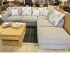 Luna Corner Sofa and footstool