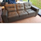 Franco 3 seater grey leather